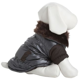 Pet Life Faux fur Collared Polyester Dog Coat Jacket   13664053