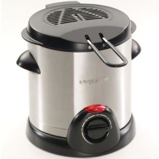 Presto 1000 Watt Stainless Steel Electric Deep Fryer