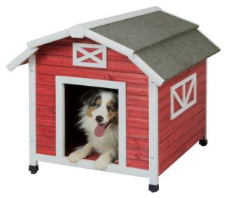 Precision Pet Old Red Barn Dog House   Dog Houses