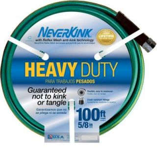 Neverkink 5/8 in. Dia x 100 ft. Heavy Duty Water Hose 8605 100