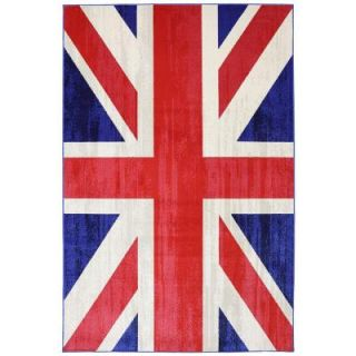 Mohawk Home Union Jack Jockey Red 8 ft. x 10 ft. Woven Indoor/Outdoor Area Rug 392697