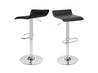 Apontus Bar Stool Counter Air Lift Adjustable Swivel Barstools Chairs (Set of 2) Black