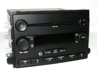 Ford 2006 2013 Car Truck Radio   AM FM  CD Player w Aux Input 7E5T 18C869 AE