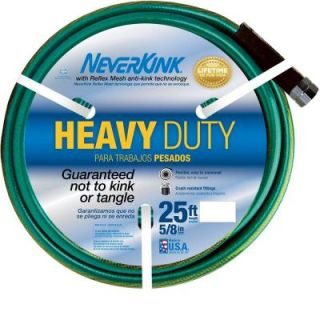 Neverkink 5/8 in. Dia x 25 ft. Heavy Duty Water Hose 8605 25