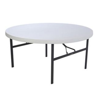 Lifetime 5 Round Commercial Grade Folding Table   White Granite