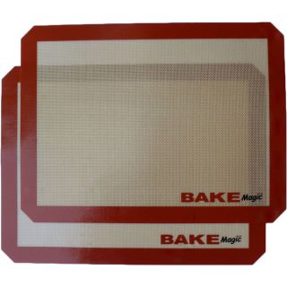 Bake Magic Silicone Reusable Non Stick Baking Mat   2 Pack