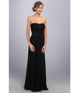 jessica simpson strapless lace gown w tux seaming black