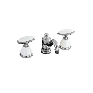 KOHLER Antique Polished Chrome 2 Handle Widespread Bathroom Faucet (Drain Included)