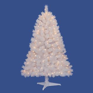 Ft Pre Lit Hamilton White Spruce Artificial Christmas Tree with