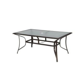 Hampton Bay Altamira Rectangular Patio Dining Table DY9976 TT