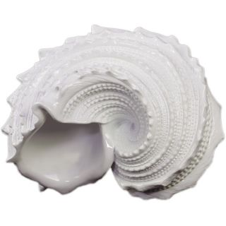 Urban Trends Collection White Resin Nautilus Seashell