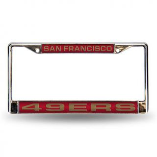 Red Laser Chrome License Plate Frame   San Francisco 49ers   7574698