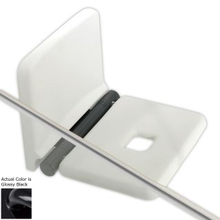 Ponte Giulio USA 29.94 in Glossy Black Wall Mount Grab Bar