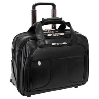"McKlein USA Chicago Leather Wheeled 17"" Laptop Case"