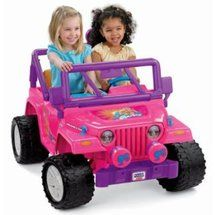 Fisher Price Power Wheels Barbie Jeep Wrangler Battery Powered Riding Toy