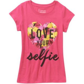 "Freeze ""Love Your Selfie"" Girls' Short Sleeve Graphic Tee"