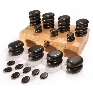 Basalt Lava 36 piece High Polish Hot Stone Massage Kit   13410081