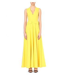 MERCHANT ARCHIVE   Sleeveless stretch wool gown