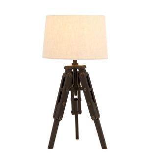Espresso Wood Tripod Table Lamp   17563265   Shopping