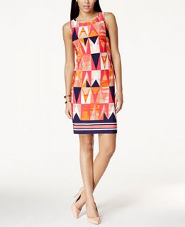Jessica Howard Mixed Print Sheath Dress   Dresses   Women