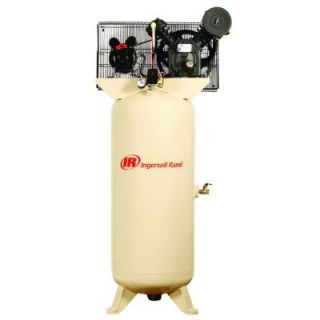 Ingersoll Rand Type 30 Reciprocating 60 Gal. 5 HP Electric 230 Volt Single Phase Air Compressor 2340L5 V
