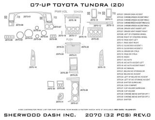 2007 2013 Toyota Tundra Wood Dash Kits   Sherwood Innovations 2070 CF   Sherwood Innovations Dash Kits