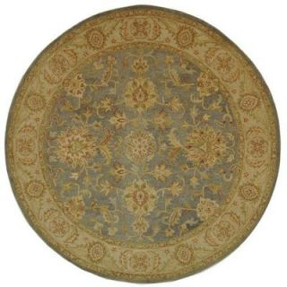 Safavieh Antiquity Blue/Beige 6 ft. Round Area Rug AT312A 6R