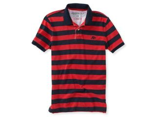 Aeropostale Mens A87 Textured Striped Rugby Polo Shirt 629 XL