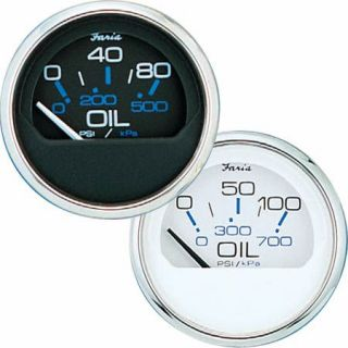 Faria Chesapeake SS Instruments   Oil Pressure Gauge (0 80 psi)