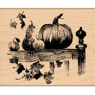 Penny Black Mounted Rubber Stamp 3.25