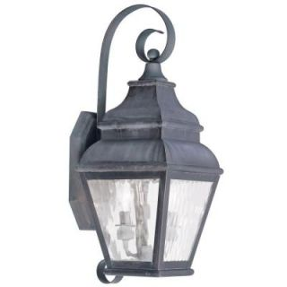 Filament Design Providence Wall Mount 2 Light Outdoor Charcoal Incandescent Lantern CLI MEN2602 61