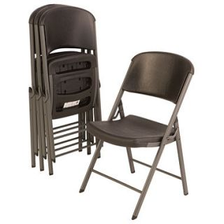 Lifetime Commercial Grade Contoured Folding Chair , Select Color   4 pack