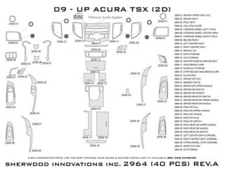 2009 2013 Acura TSX Wood Dash Kits   Sherwood Innovations 2964 R   Sherwood Innovations Dash Kits
