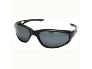 Edge Eyewear SW117  Dakura Wrap Around Safety Glasses, Black/Silver Mirror Lens
