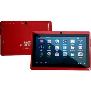 Worryfree Gadgets Zeepad 7DRK, 7 Tablet, 4 GB, Android Jelly Bean, Wi Fi, Red