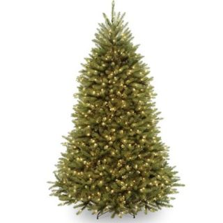 National Tree Pre Lit 6 1/2' Dunhill Fir Hinged Artificial Christmas Tree with 650 Clear Lights