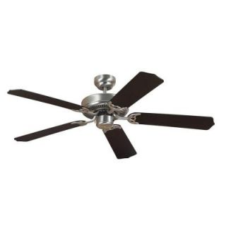 Sea Gull Lighting Quality Max 52 in. Brushed Nickel Ceiling Fan with Cerused Oak/Ebony Blades 15040 962