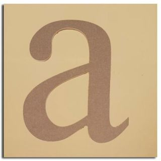 "Pack of 2 Decorative Expressive Unfinished Wood Lower Case Letter ""a"""
