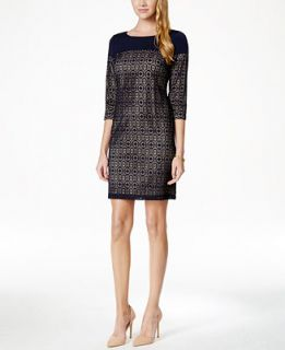 Jessica Howard Petite Lace Shift Dress   Dresses   Women