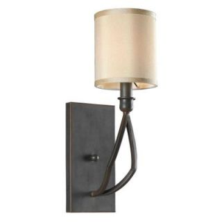 World Imports Decatur 1 Light Rust Wall Sconce with Shade WI350142