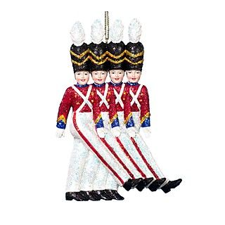 Kurt Adler Rockette Soldiers Ornament, 6""