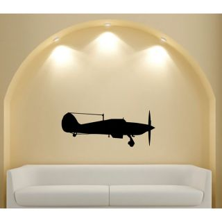 Vintage Aircraft Silhouette Vinyl Sticker Wall Decal   15819937