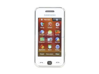 Samsung Star White Unlocked GSM Touch Screen Phone with 3.2MP Camera / 10 Hours Talk Time / Bluetooth 2.1 (S5230)
