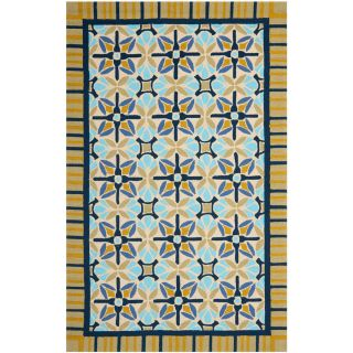 Safavieh Four Seasons Rectangular Brown Geometric Indoor/Outdoor Woven Area Rug (Common 4 ft x 6 ft; Actual 3.5 ft x 5.5 ft)