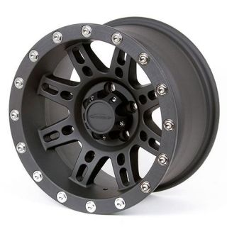 Pro Comp Alloy Wheels   Series 7031, 15x8 with 5 on 4.5 Bolt Pattern   Flat Black