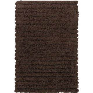 Chandra Rugs Wynton Shag Dark Brown Rug