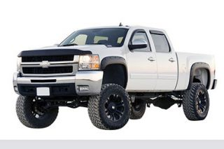 2007 2013 Chevy Silverado Pocket Style Fender Flares   EGR 791405   EGR Matte Black Bolt On Look Fender Flares