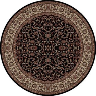 Safavieh Lyndhurst Collection Traditional Black/ Ivory Rug (5 3 Round