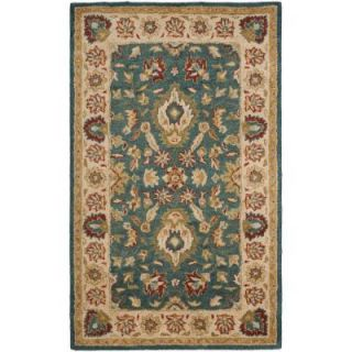 Safavieh Antiquity Blue/Beige 4 ft. x 6 ft. Area Rug AT15A 4