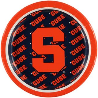 Syracuse Orange 8 Pack Lunch Plate Set